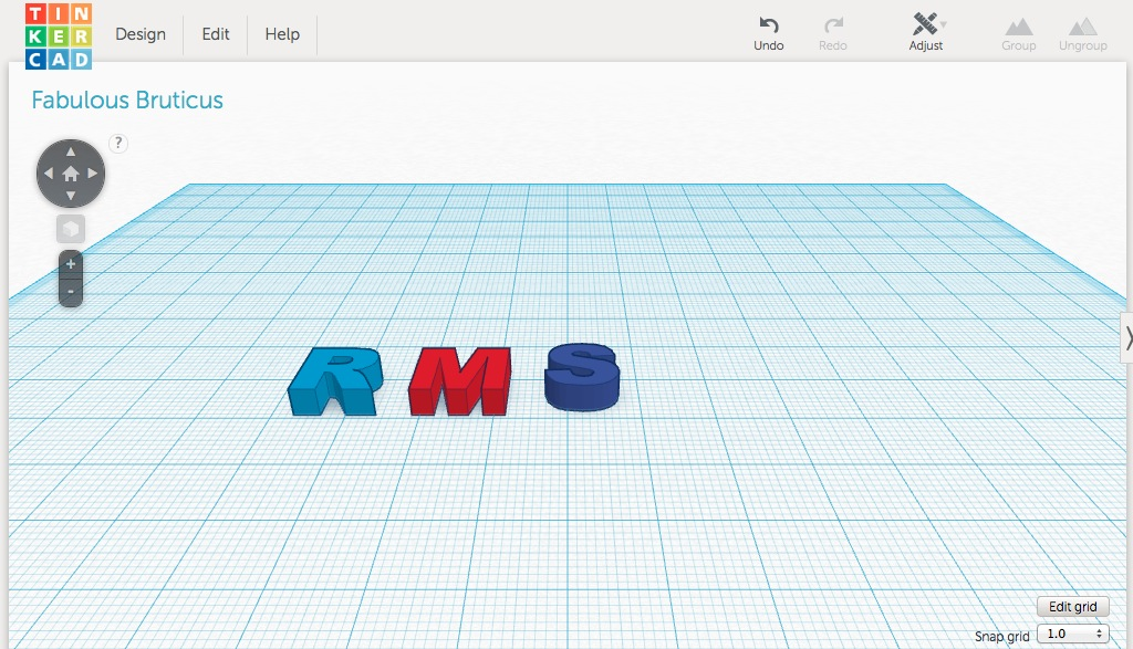 Post Title: 3D Modeling . Image Caption: Designing in Tinkercad